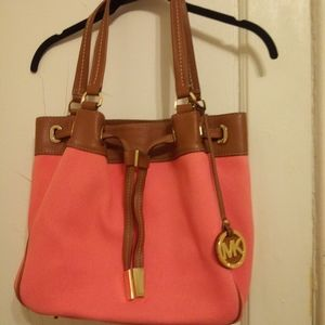 Michael by Michael Kors Canvas Bucket Handbag
